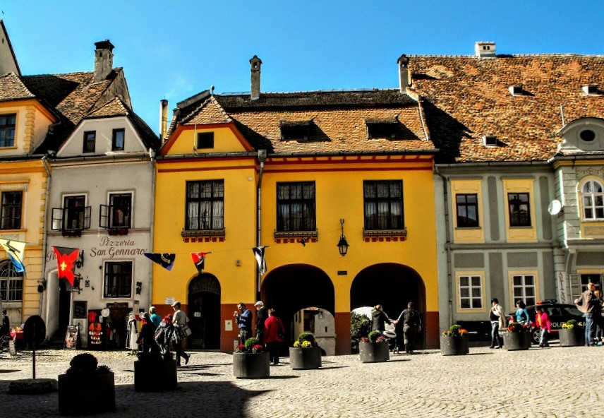 Sighisoara City square